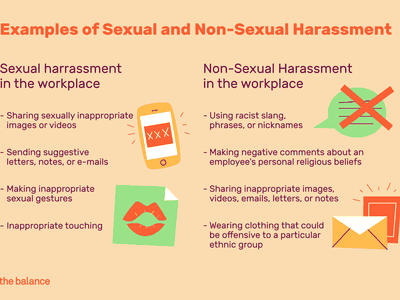 examples of sexual and non-sexual harassment in the workplace