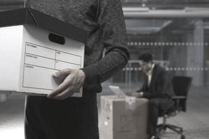 Close-up of Businessman Holding Box