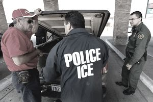 border patrol officer with an ICE special agent