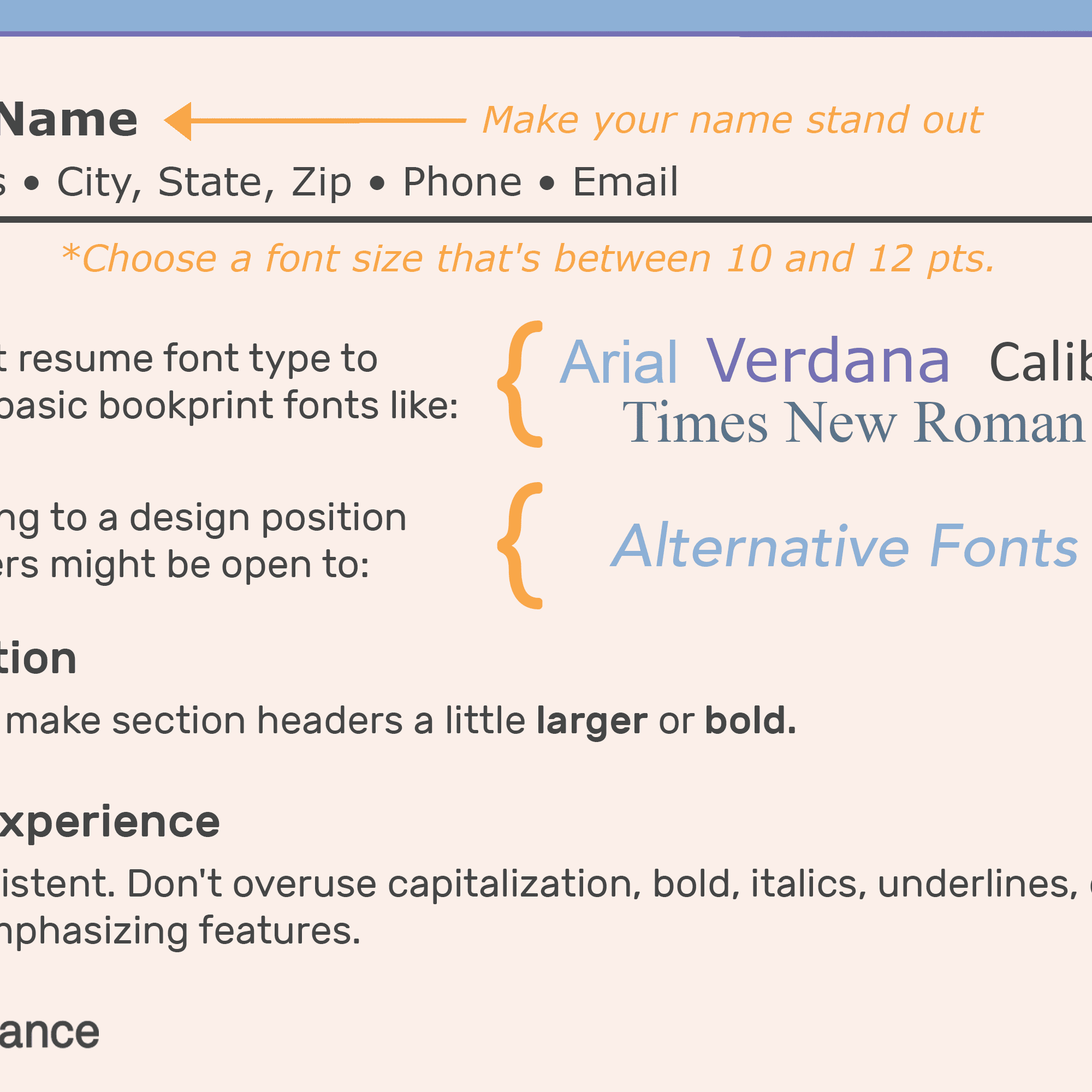 What Font Size Should A Resume Be.The Best Font Size And Type For Resumes