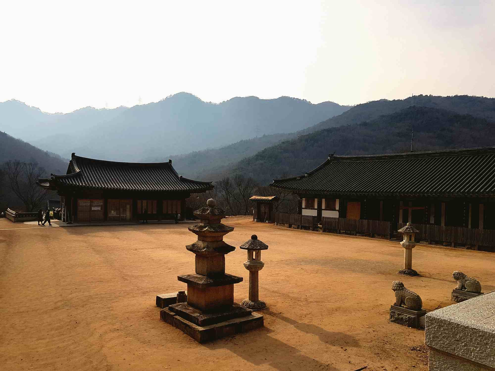 Exterior of traditional buildings in Chinhae