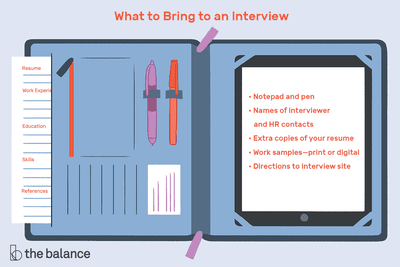 What To Bring A Job Interview