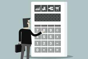 Businessman With Calculator Banking Accountant