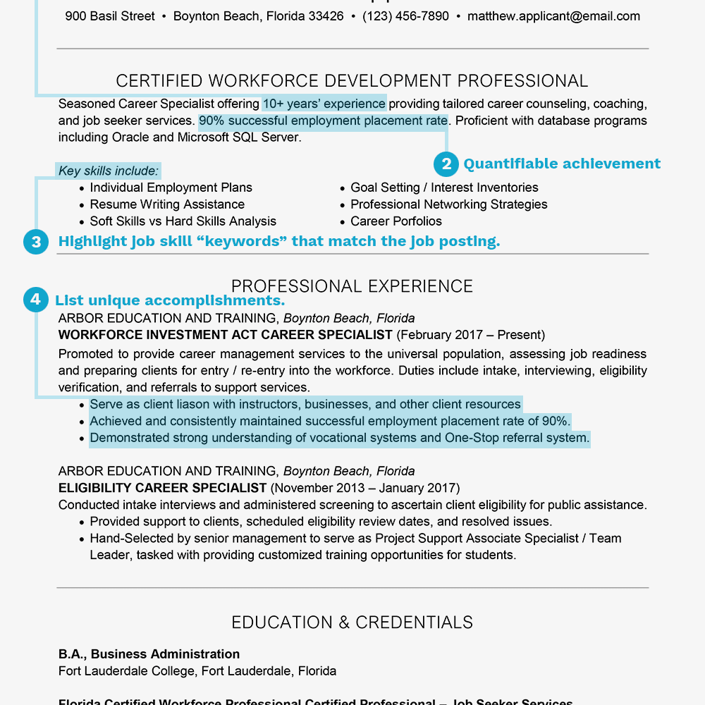 Resume Summary Samples | How To Write A Resume Summary Statement With Examples