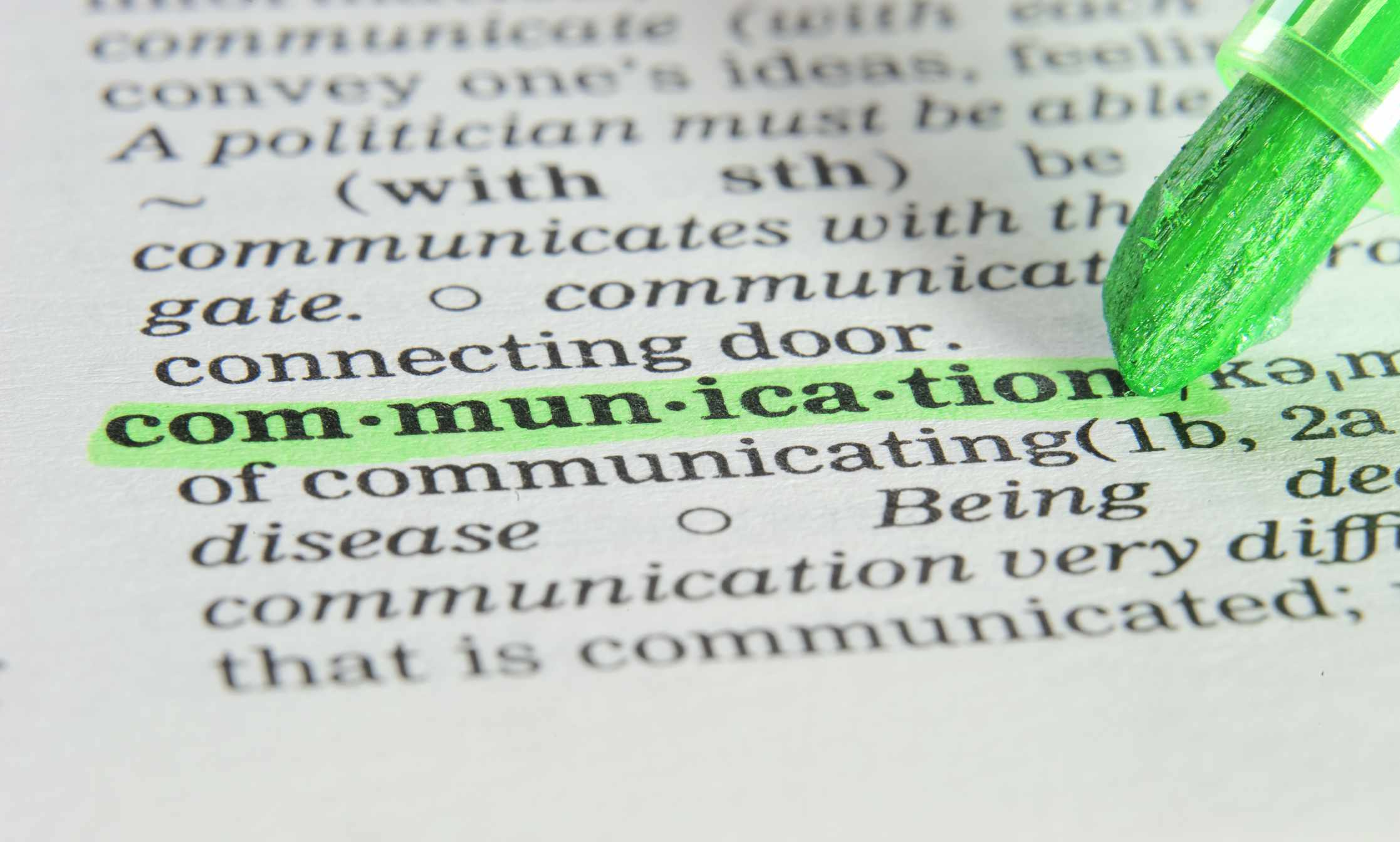 Communication in the Dictionary