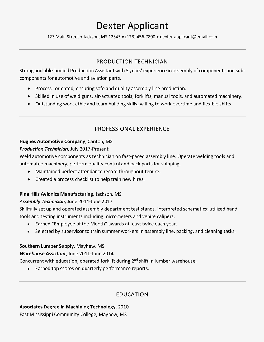 Create a Professional Resume