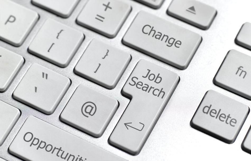 Online job search computer keyboard