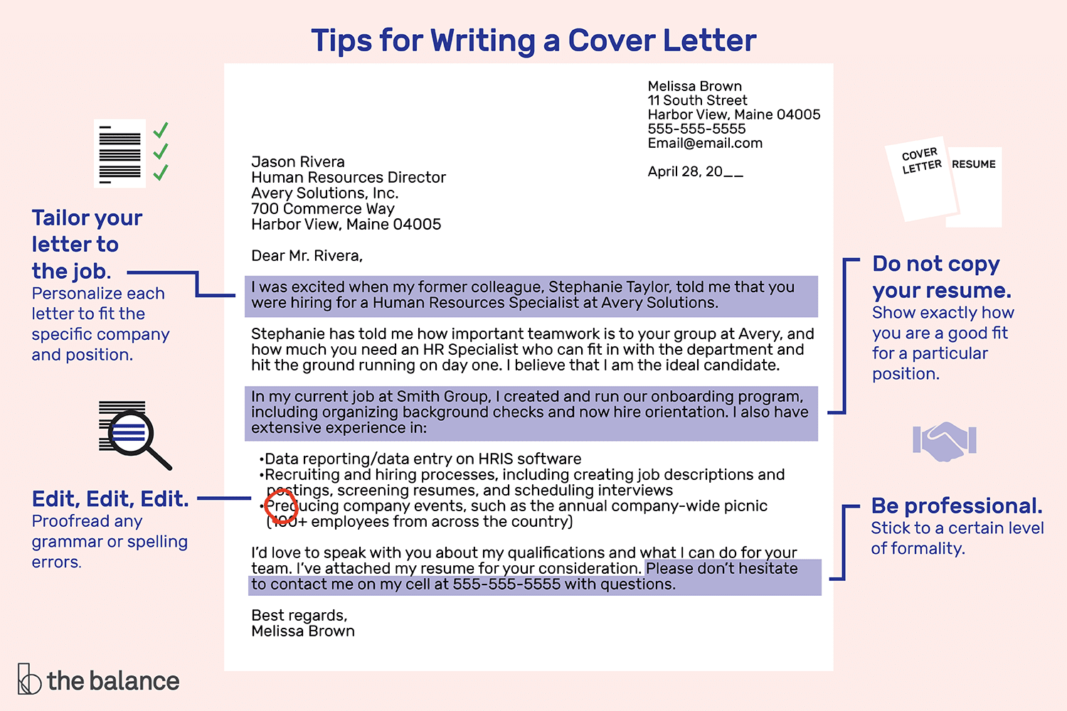 tips for writing a job application letter