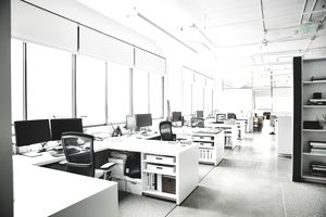 Workstations in empty office