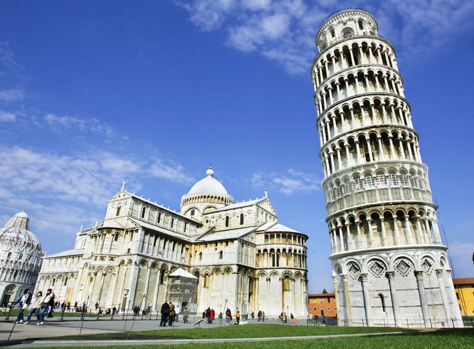 Italy, Tuscany, Leaning Tower of Pisa, Cathedral Santa Maria Assunta