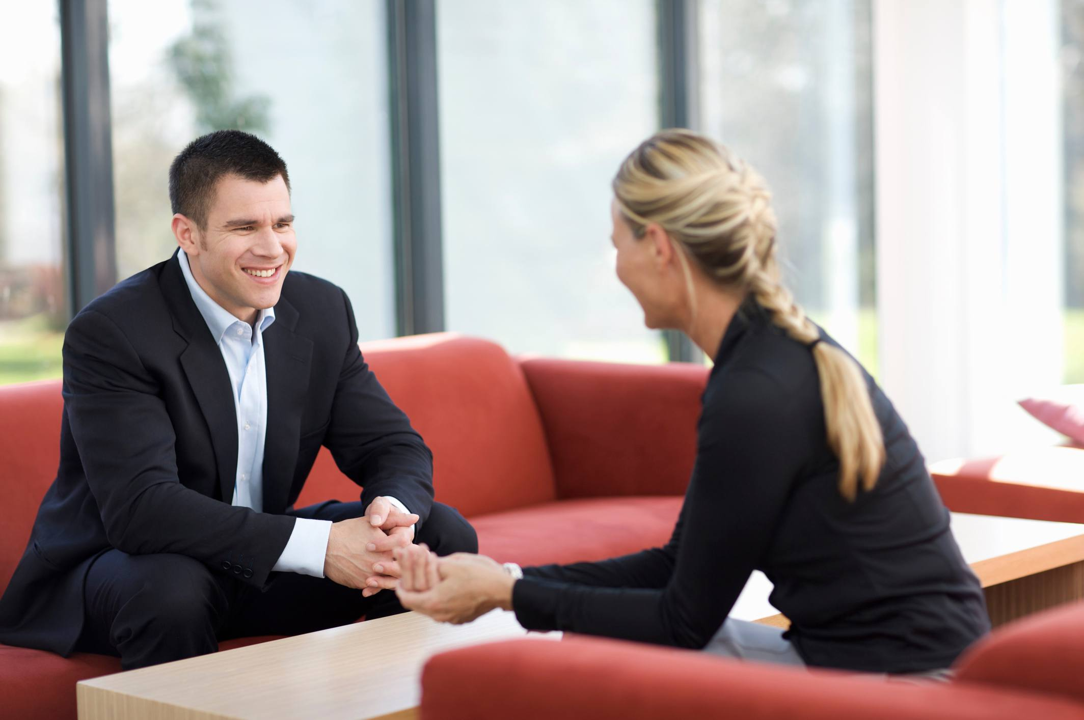 job interview man and woman