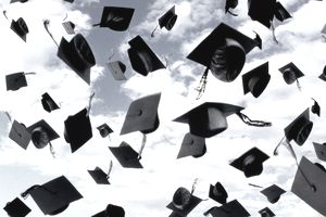 MORTARBOARDS, GRADUATION