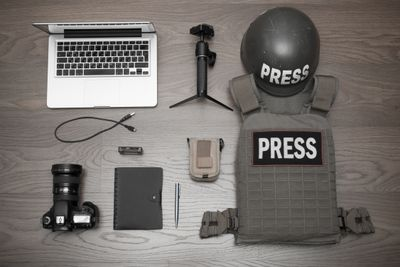 Set the photographer to work in conflict zones