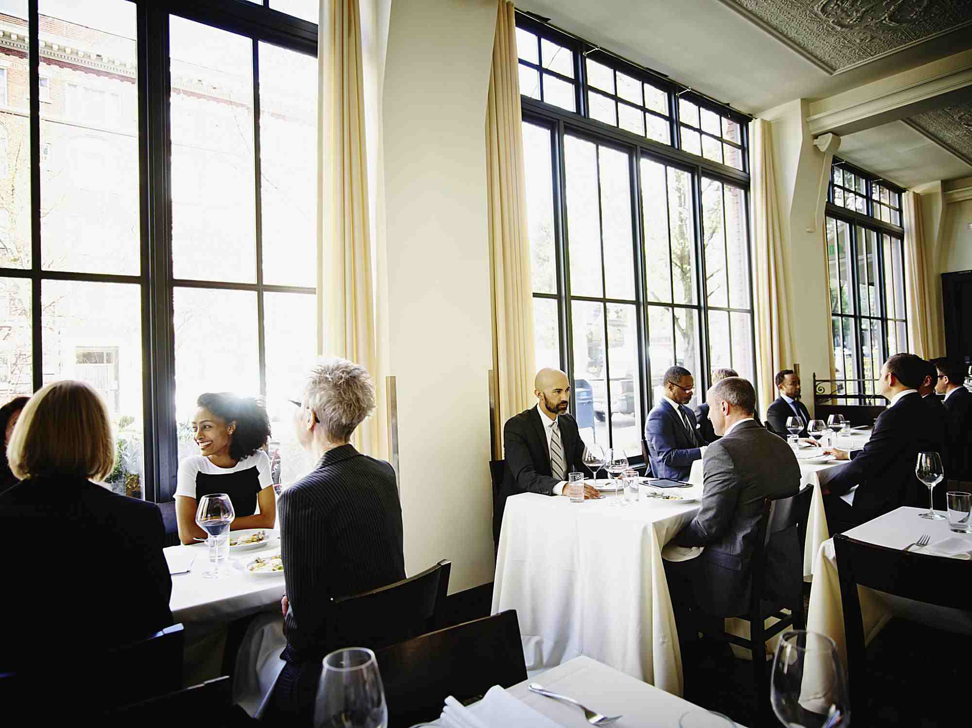 People dining at a fancy restaurant
