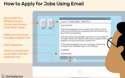 here is a step by step guide on how to apply for jobs using email
