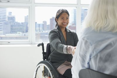 Businesswoman with disability