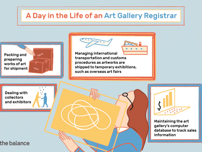 A day in the life of an art gallery registrar: Packing and preparing works of art for shipment; dealing with collectors and exhibitors; maintaining the art gallery's computer database to track sales information; managing international transportation and customs procedures as artworks are shipped to temporary exhibition, such as overseas art fairs