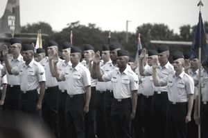 Swearing in at Air Force BMT Graduation Sept 11, 2015