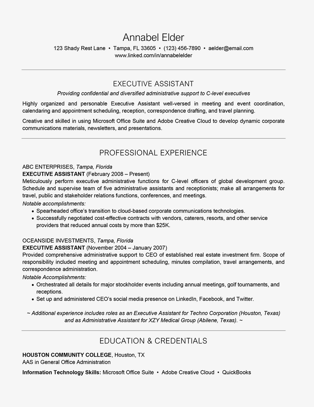 what needs to be included in a resumes