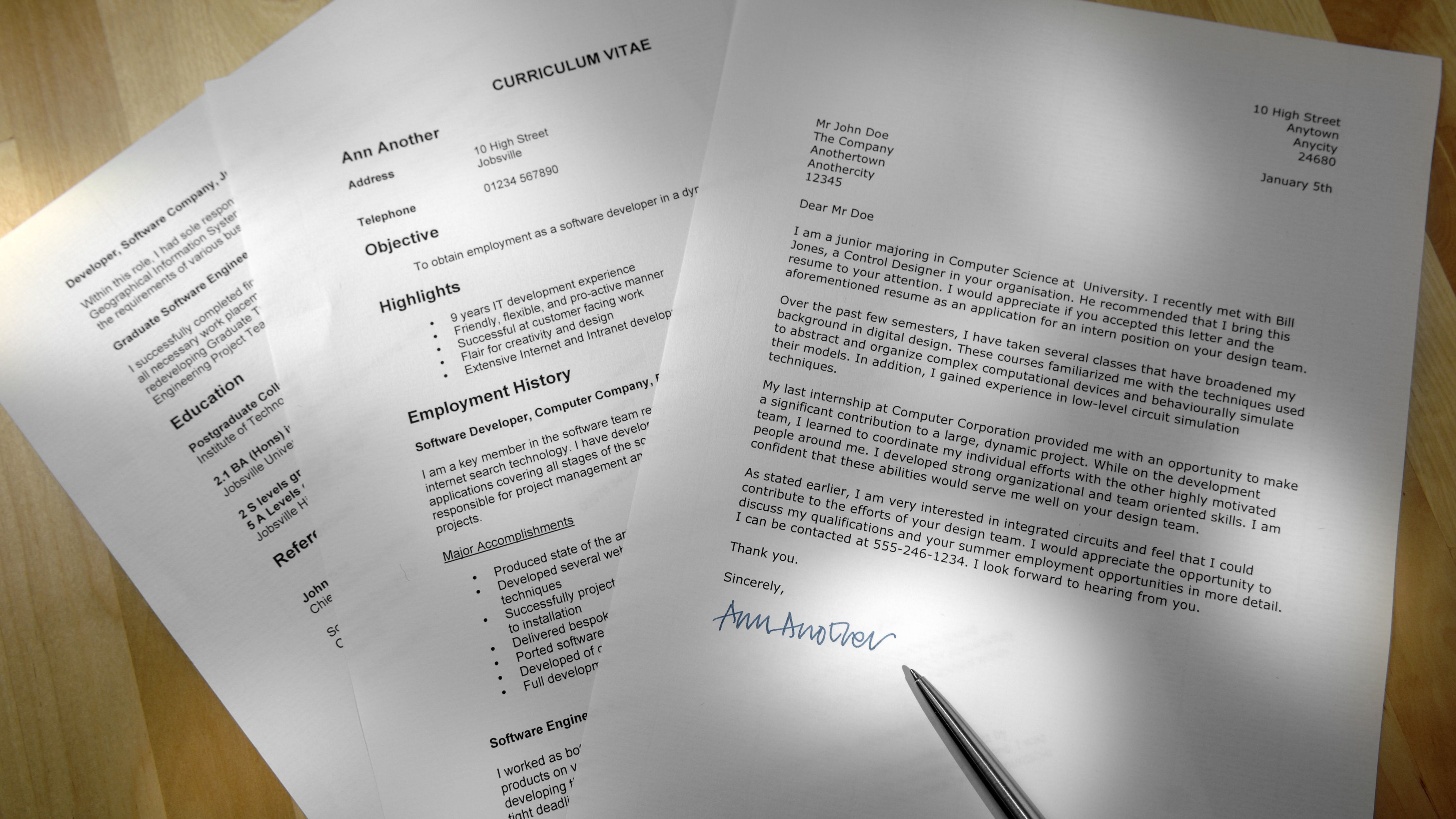 Free Cover Letter Templates And Examples