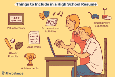 How to write a high school resume for college application