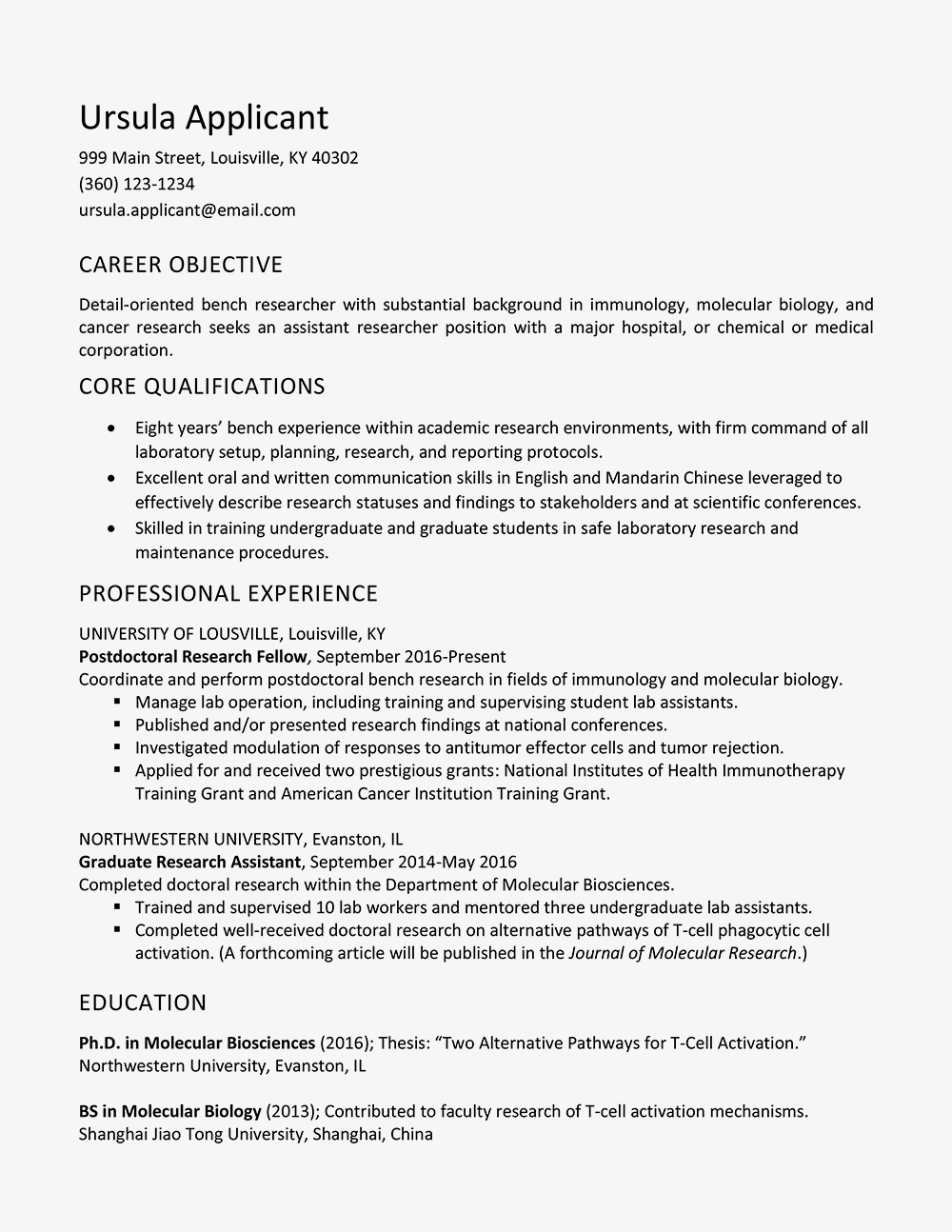 Research Assistant Resume Job Description And Skills