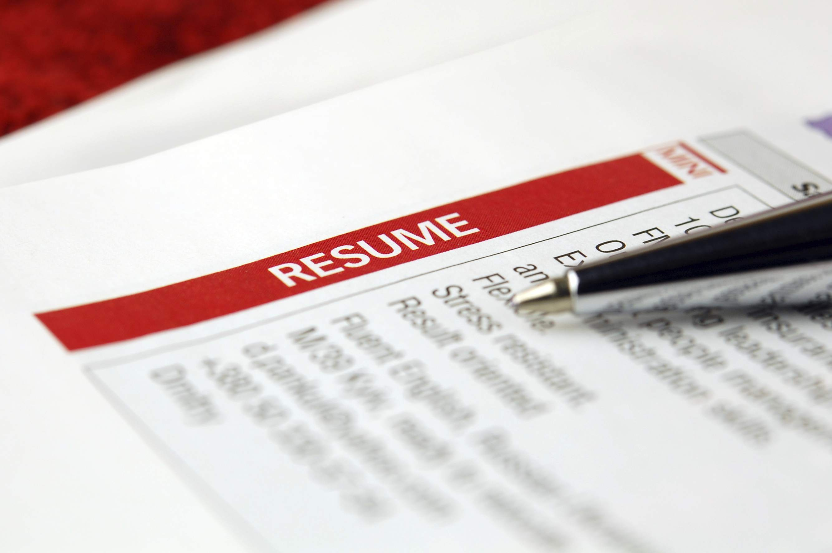 Resume with pen