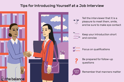 Tips for introducing yourself at a job interview