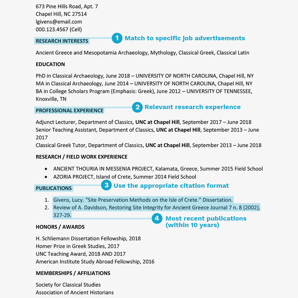 cv abbreviation resume
